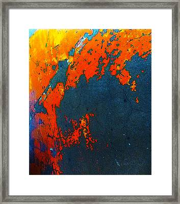 Old Parking Garage Floor 4b Framed Print
