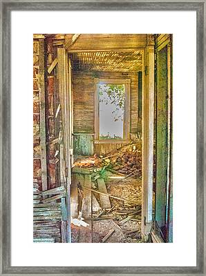 Framed Print featuring the photograph Old Pastel House by Kimberleigh Ladd