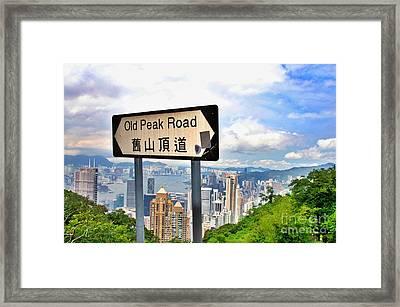 Old Peak Road  Framed Print