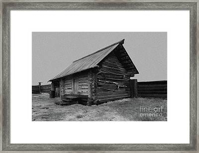 Old Peasant House 2 Framed Print by Evgeniy Lankin