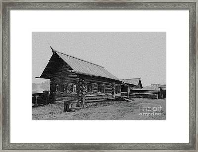 Old Peasant House Framed Print by Evgeniy Lankin