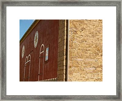 Old Pennsylvania Barn With Hex Signs Framed Print by Anna Lisa Yoder