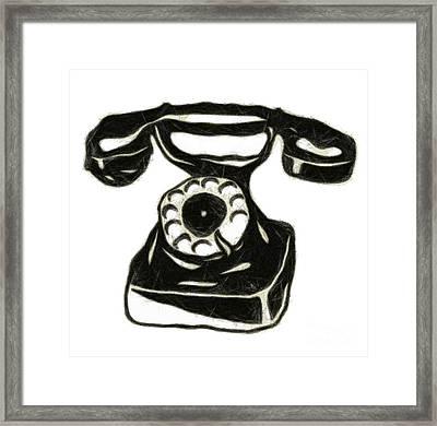 Old Phone Framed Print by Michal Boubin