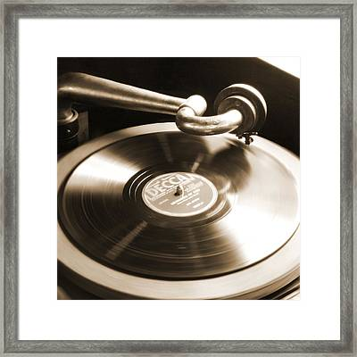 Old Phonograph Framed Print by Mike McGlothlen