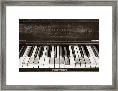 Old Piano Keys Framed Print by Jim Hughes