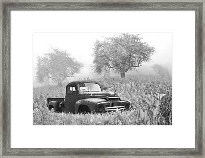 Old Pick Up Truck Framed Print by Debra and Dave Vanderlaan