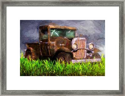 Old Pickup Framed Print by Bob Orsillo