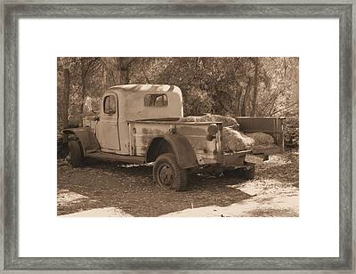Framed Print featuring the photograph Old Pickup by David Rizzo