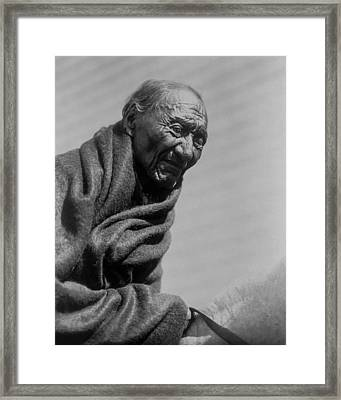 Old Piegan Man Circa 1910 Framed Print by Aged Pixel