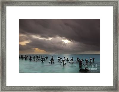 Old Pier In The Florida Keys Framed Print by Keith Kapple