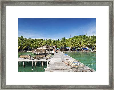 Old Pier Of Koh Rong Island In Cambodia Framed Print