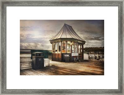 Old Pier Shop Framed Print by Ian Mitchell