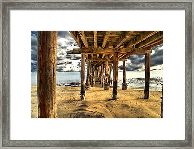 Old Pillar Point Pier Framed Print