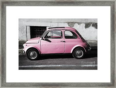 Old Pink Fiat 500 Framed Print