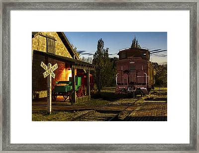 Old Pioneer Town Scene Framed Print by Russell Honey