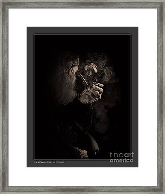 Old Pipe Smoker Framed Print