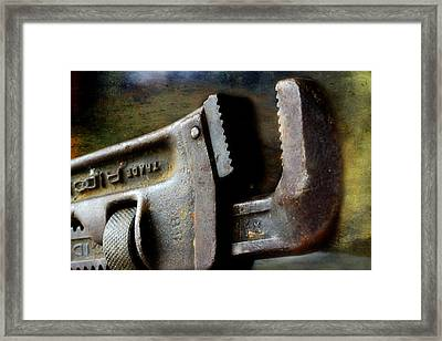 Old Pipe Wrench Framed Print