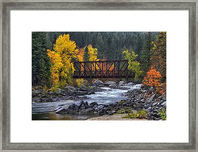 Old Pipeline Bridge Framed Print by Mark Kiver