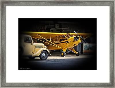 Old Piper Cub Framed Print