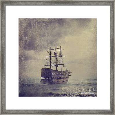 Old Pirate Ship Framed Print