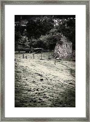 Old Plough Framed Print by Amanda Elwell