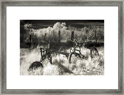 Old Plow Framed Print by Scott Campbell