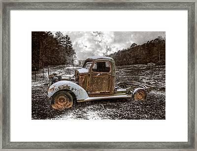 Old Plymouth Framed Print by Debra and Dave Vanderlaan
