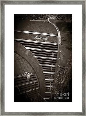 Old Plymouth Framed Print