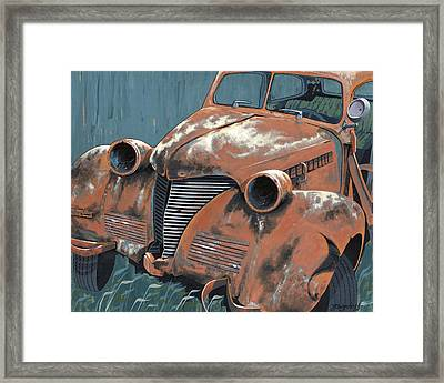 Old Plymouth Framed Print by John Wyckoff