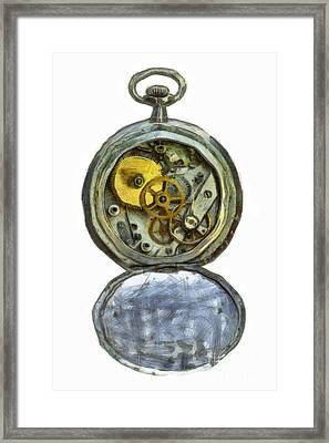 Old Pocket Watch Framed Print by Michal Boubin