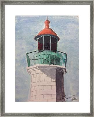 Old Point Comfort Framed Print by Stan Tenney