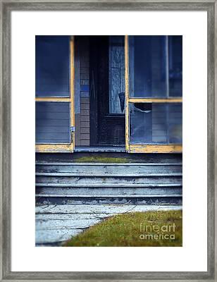 Old Porch Framed Print by Jill Battaglia