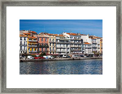 Old Port Waterfront With Buildings Framed Print by Panoramic Images