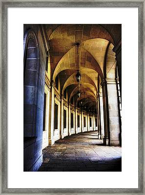 Old Post Office Archway Framed Print