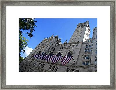 The Old Post Office Or Trump Tower Framed Print