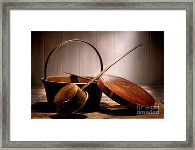 Old Pots And Pans Framed Print by Olivier Le Queinec