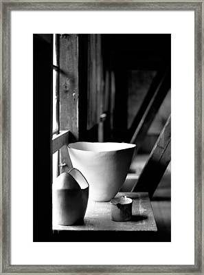 Old Pots At The Window Framed Print by Tommytechno Sweden