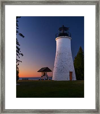 Old Presque Isle Lighthouse Framed Print by Thomas Pettengill