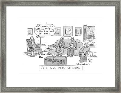 Old Psychics' Home Framed Print by Danny Shanahan