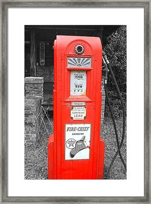 Old Pump  Framed Print by Steven  Taylor