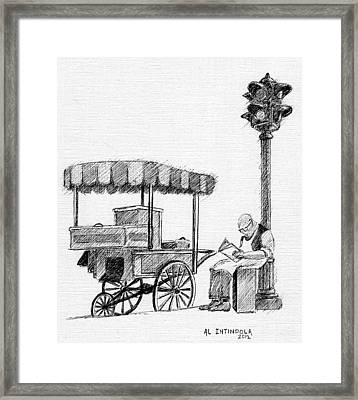 Old Pushcart Framed Print