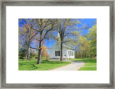 Old Quabbin Reservoir Church At Mount Holyoke Framed Print