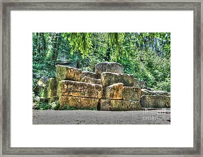 Old Quarry Stones Framed Print