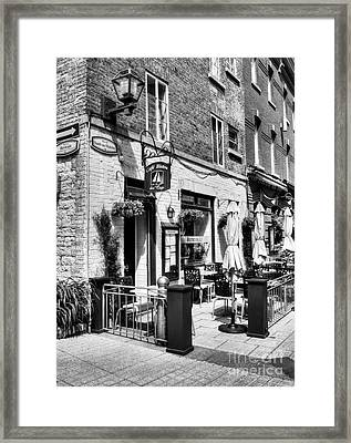 Old Quebec City 18 Framed Print by Mel Steinhauer