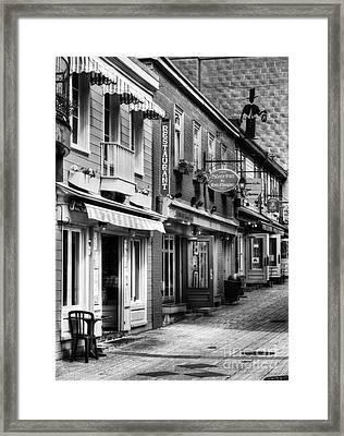 Old Quebec City 20 Bw Framed Print by Mel Steinhauer