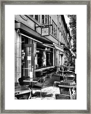 Old Quebec City 21 Bw Framed Print by Mel Steinhauer