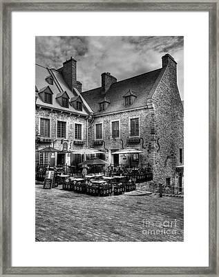 Old Quebec City Bw Framed Print by Mel Steinhauer