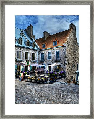 Old Quebec City Framed Print by Mel Steinhauer