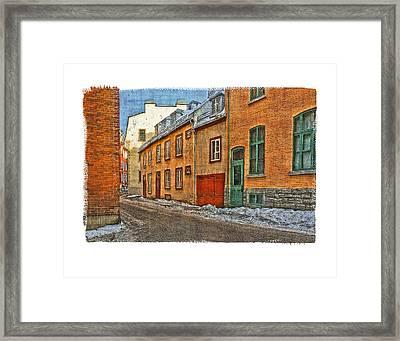 Old Quebec City Framed Print by Roger Winkler