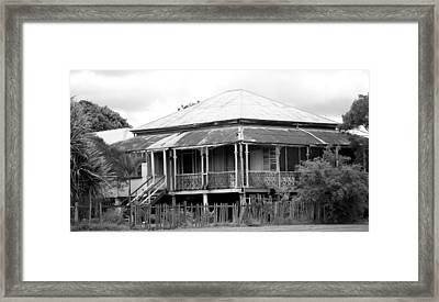 Old Queenslander Framed Print by Lee Stickels